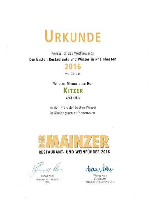 Best winemakers Rheinhessen - Weingut Kitzer